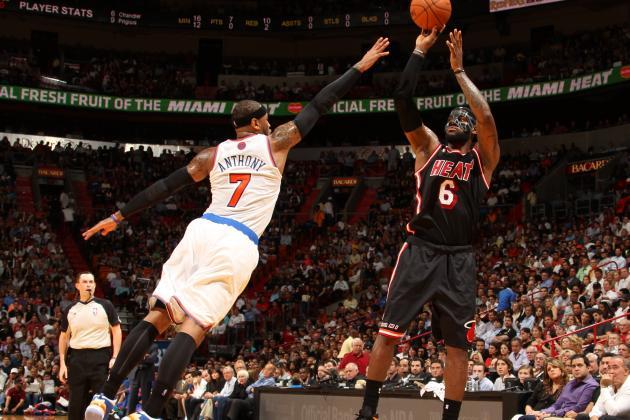 Masked LeBron Leads Heat Past Knicks 108-82