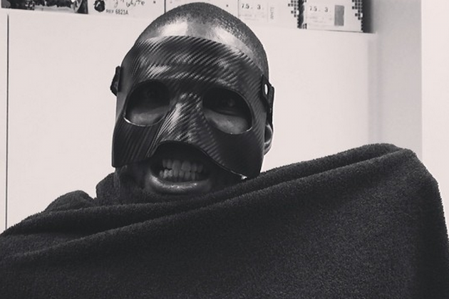 Chris Bosh Steals LeBron James' Carbon Mask, Takes Creepiest Instagram Picture