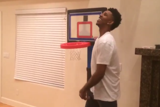 Nick Young and Gilbert Arenas Square Off in Ridiculous Fisher Price Shootout