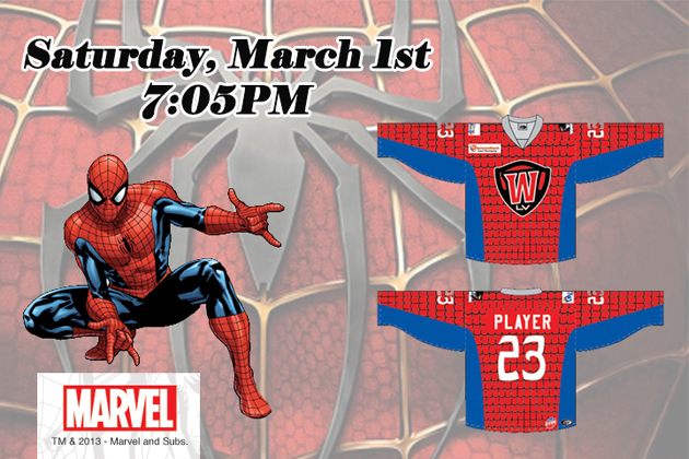 ECHL's Las Vegas Wranglers Unveil Spider-Man Uniforms