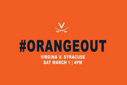 Virginia Is Calling for an #OrangeOut Against the Syracuse Orange