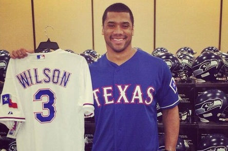 Russell Wilson Texas Jersey on Sale Sunday