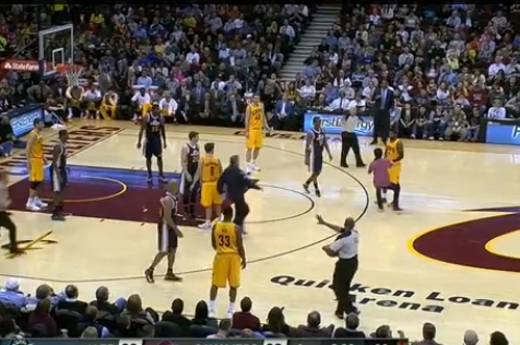 Fan Rushes the Court to Greet Kyrie Irving During Game