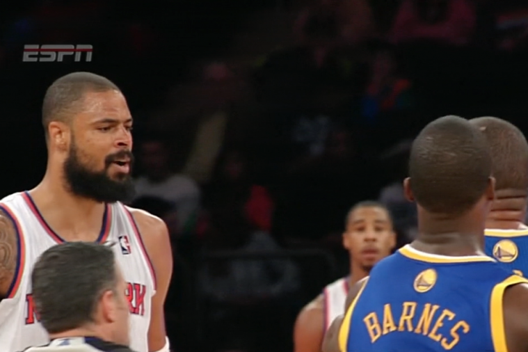 Tyson Chandler and Marreese Speights Get in Scuffle During Knicks-Warriors Game