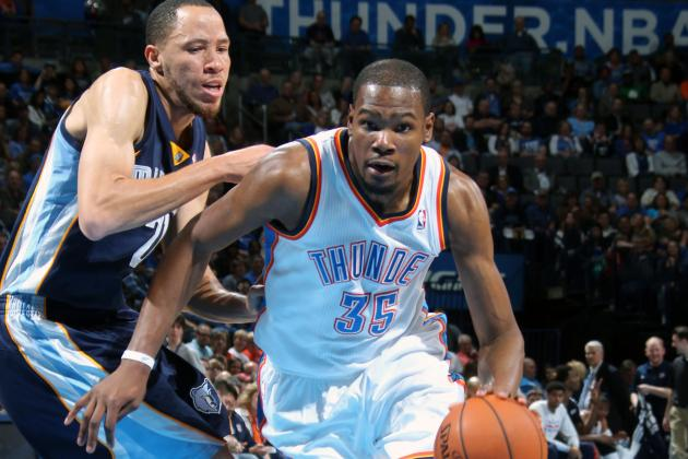 KD's 37 Pts Leads Thunder Past Grizz 113-107