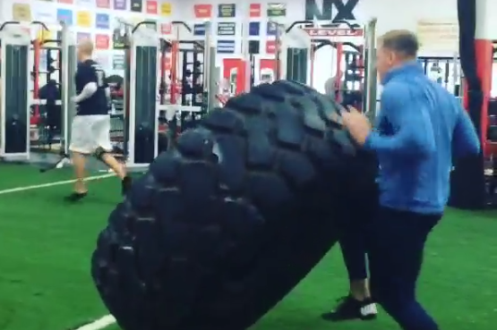 J.J. Watt Lifts 1,000-Pound Tire Because That's What Pro Bowlers Do