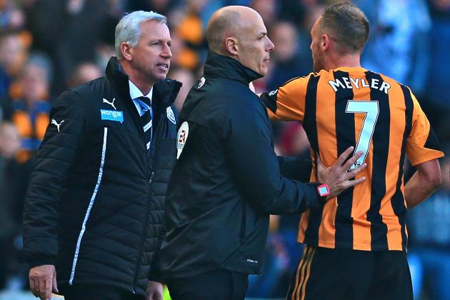 Alan Pardew Red-Carded for Apparent Headbutt of Hull City's David Meyler