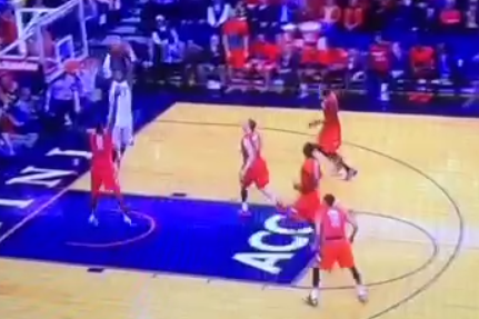 Virginia's London Perrantes Throws Half-Court Alley Oop to Akil Mitchell