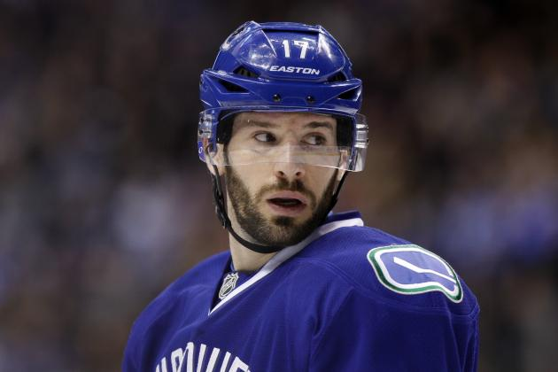 Penguins Identify Canucks' Kesler as Top Trade Target
