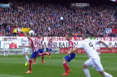 GIFs: Atletico Madrid Lead Real Madrid at Half-Time Via Gabi Golazo