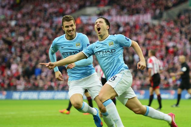 GIFs: Manchester City Score 3 Second-Half Goals to Win League Cup vs. Sunderland