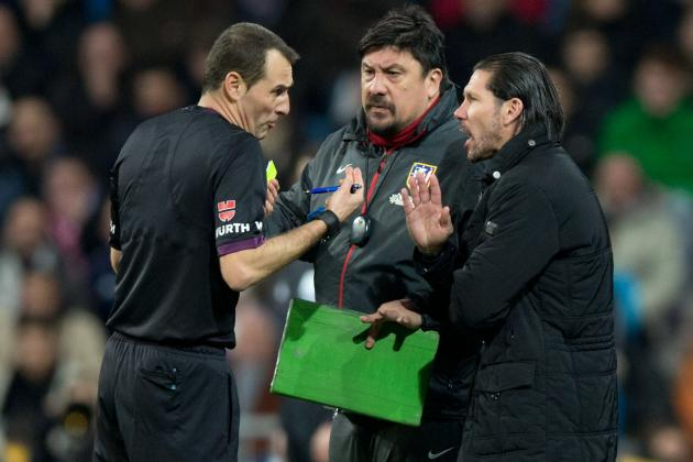 GIF: Atletico Madrid Assistant German Burgos Loses It After Penalty Appeal