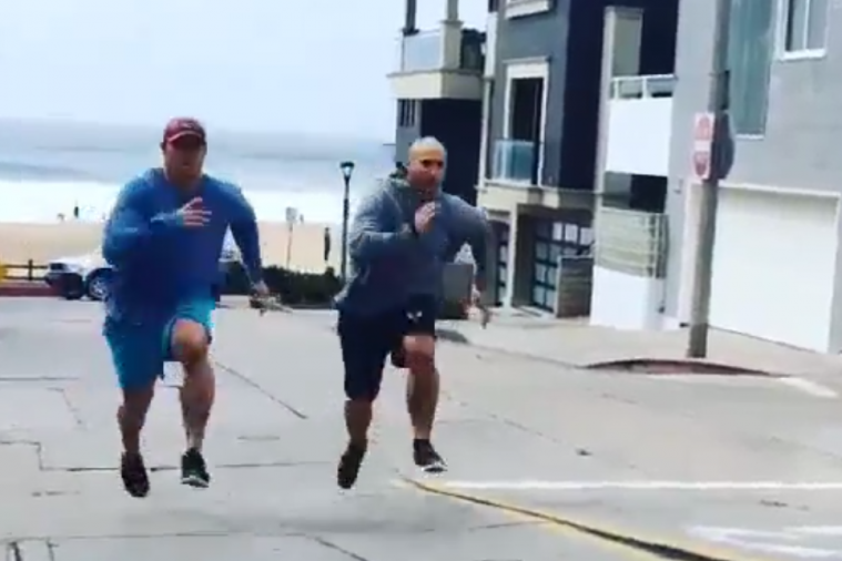 Brothers Chris Long and Kyle Long Race Up Hill in Offseason—Who Wins?