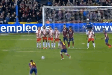 GIF: Lionel Messi Scores Brilliant Curling Free Kick for Barcelona vs. Almeria