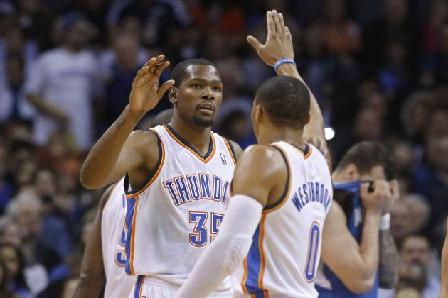 Russell Westbrook, Kevin Durant Throw Down Big Dunks vs Bobcats
