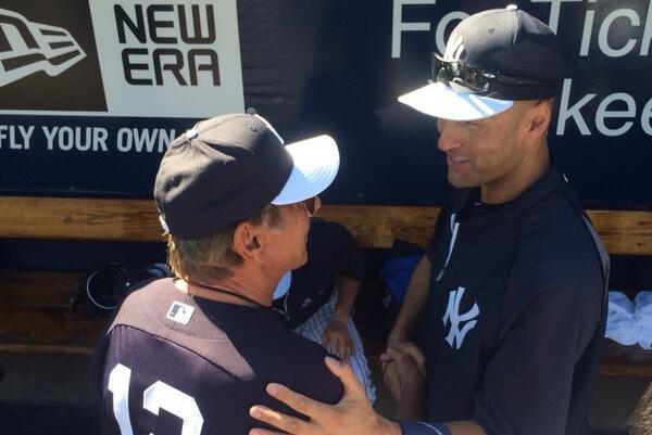 Joe Namath in Uniform at Yankees' Spring Training Camp