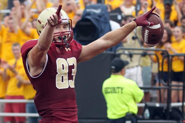Alex Amidon, Boston College WR, Undecided on Navy SEALs over NFL