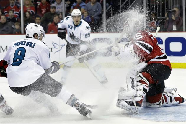 New Jersey Devils Fall to San Jose Sharks, 4-2, to Snap Two-Game Winning Streak