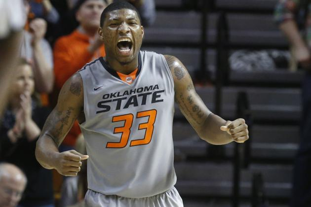 Sophomore Marcus Smart Participates in Oklahoma State Senior Night Festivities