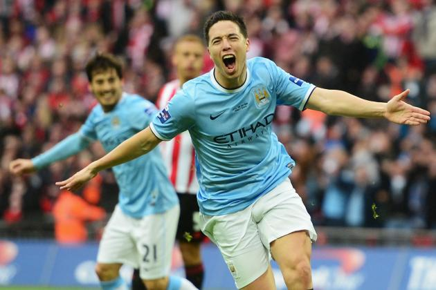 GIF: Samir Nasri's Goal for Manchester City in League Cup Final from Best Angle