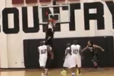 Jadeveon Clowney Throws Down Alley-Oop Dunk at 2012 Charity Basketball Game