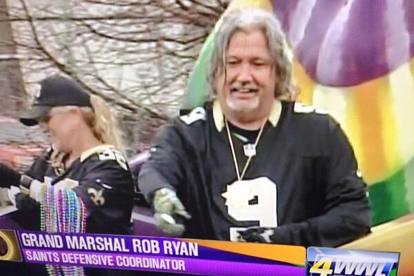 Celebrate Mardi Gras with Pictures of Rob Ryan at Krewe of Argus Parade