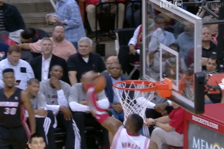 Dwight Howard Rips Ball from Air in Blatant Goaltend