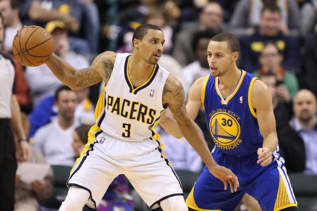 George Hill Makes Crazy Circus Shot vs. Golden State Warriors