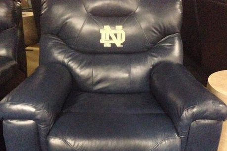 Photo: Brian Kelly Bought 8 New Recliners for Notre Dame's Locker Room