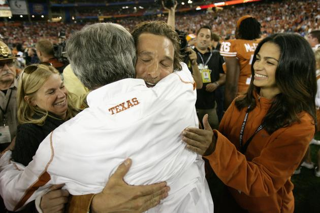 Strong, Mack Congratulate  Texas' Biggest Celebrity Fan