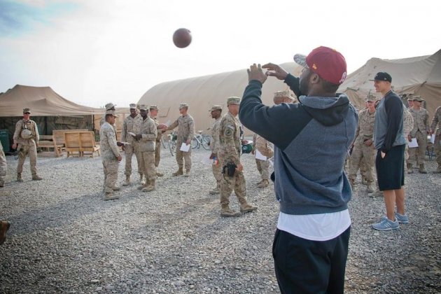 Pierre Garcon Visits Troops
