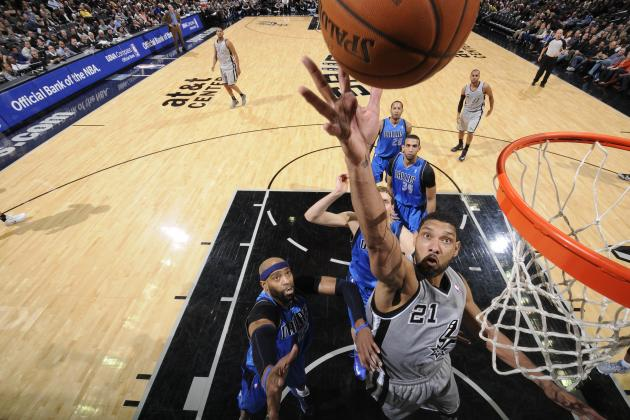 San Antonio's Tim Duncan Passes Unseld and Olajuwon on All-Time Rebounds List