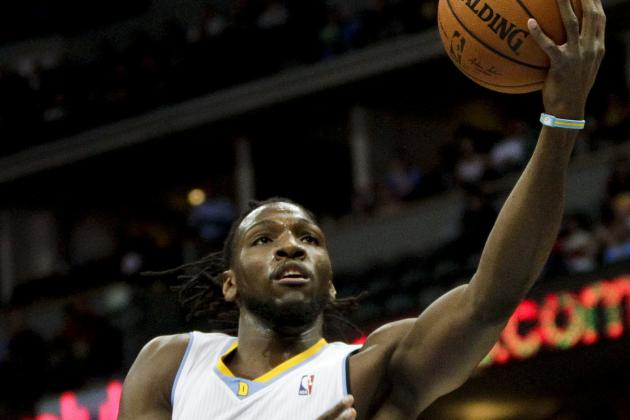 Kenneth Faried Passes off the Backboard to Himself for Fancy Finish