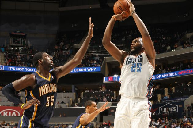 Jefferson Lifts Bobcats Over Pacers 109-87