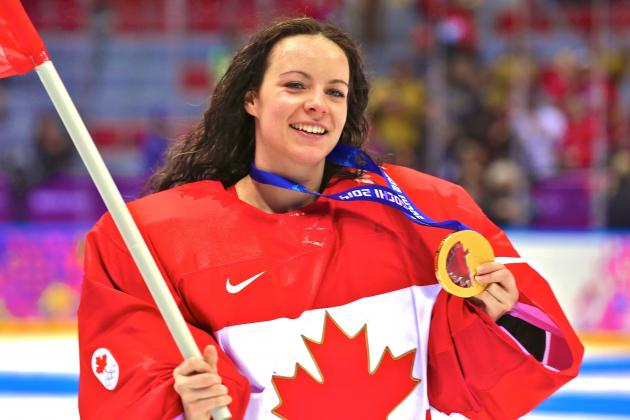 Shannon Szabados, Olympic Gold-Medal-Winning Goalie, Practices with Oilers