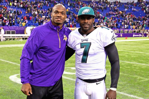 Adrian Peterson Believes Michael Vick Would Make Vikings a Playoff Team