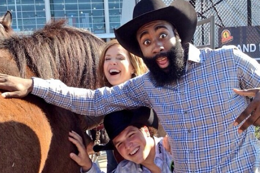 Instagram: Harden Hangs out at the Rodeo