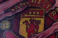 Fan Gets 'Ripped' Manchester United Club Badge Tattoo Across Chest
