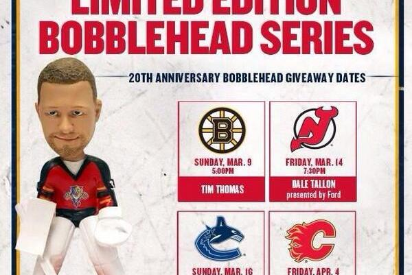 Photo: Panthers Going Ahead with Tim Thomas Bobblehead Promotion