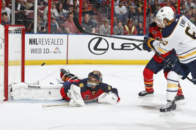 Video: Luongo Robs Sabres' Ennis at Point-Blank Range