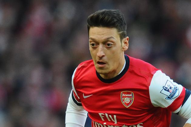 GIFs: Mesut Ozil Breaks Drought and All Goals from Arsenal-Everton in FA Cup