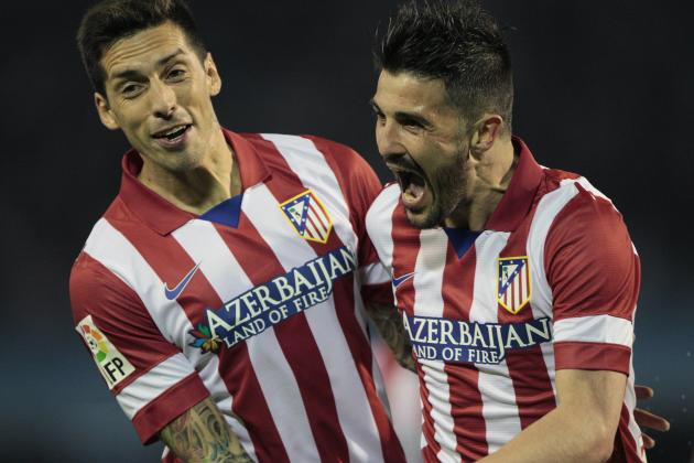 GIFs: David Villa Scores Twice for Atletico Madrid in Two Minutes