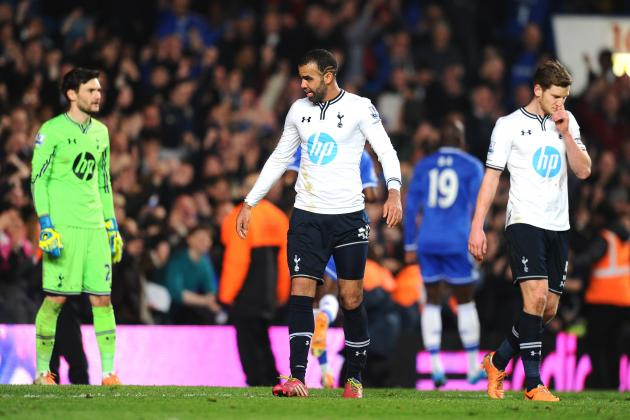 Sherwood's Changes Undone by Mistakes and Lack of Heart as Spurs Lose to Chelsea
