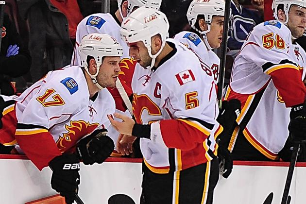 Video: Flames Score Center-Ice Goal Against Canucks' Lack