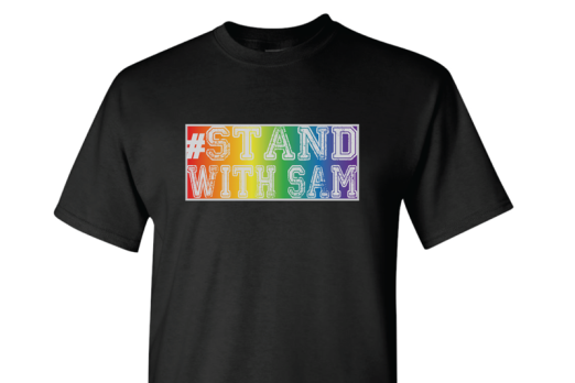 Michael Sam Unveils 'Stand with Sam' Merchandise for Sale on Personal Website