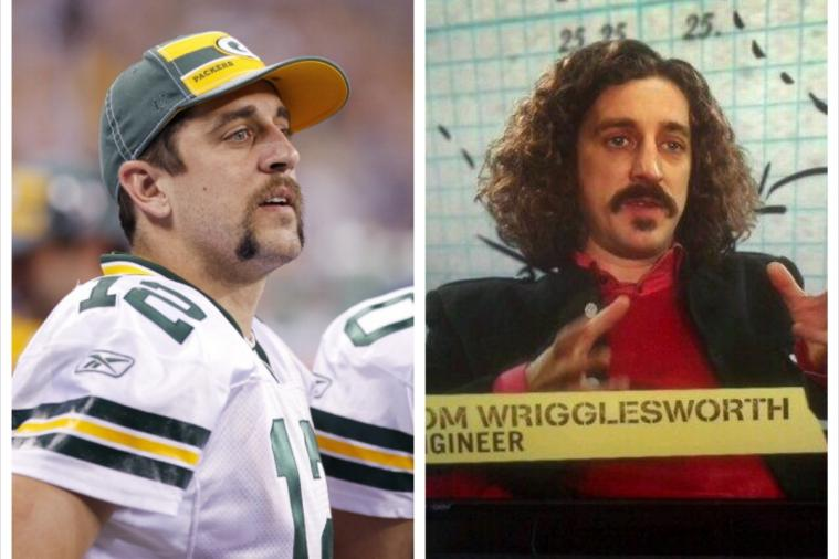 Packers' Aaron Rodgers Has an English Comedian Doppelganger