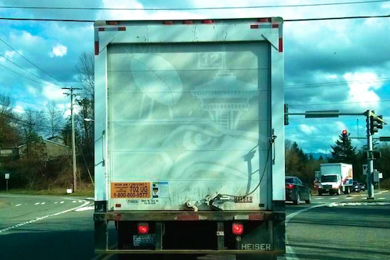 Seattle Seahawks Fan Gets Creative with Dirty Truck