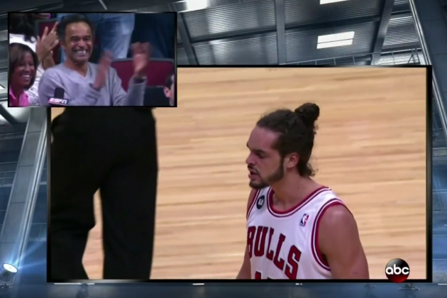 Joakim Noah's Dad Erupts with Pride Watching Son Play vs. Miami Heat