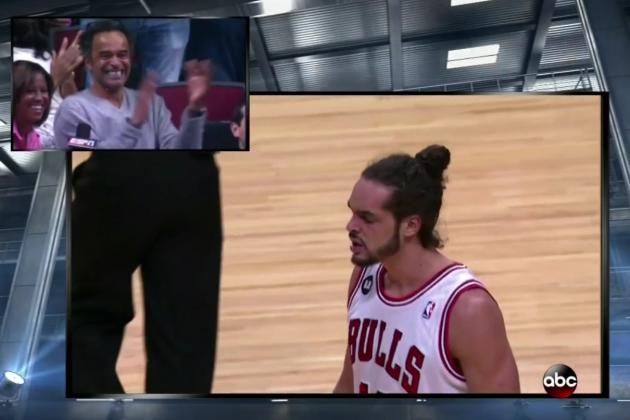 Joakim Noah's Dad Erupts with Pride Watching Son Play vs. Miami Heat