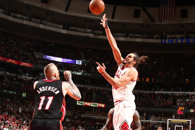 Noah, Augustin Lead Bulls over Heat in OT